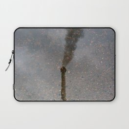 Factory Chimney  Reflection in Water Laptop Sleeve