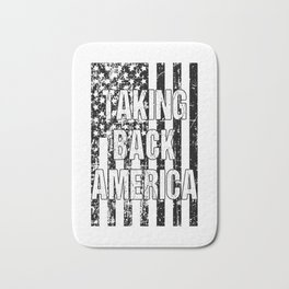 Taking Back America print American Flag product Bath Mat