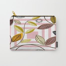 Rose Quartz, Clouds and Plants Carry-All Pouch