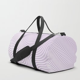 Whiskers - Light Purple & White #713 Duffle Bag