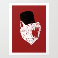 russian Art Prints featuring Russian Bear by Arkady Zaifman