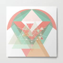 Midcentury geometric abstract nr 005 Metal Print