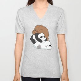 3 Sleeping Bears Unisex V-Neck