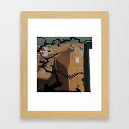 Box print Framed Art Print