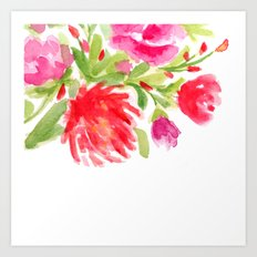 Watercolor Florals Art Print