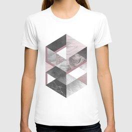 Geometric textured graphic T-shirt