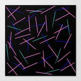 fallen toothpicks black Canvas Print