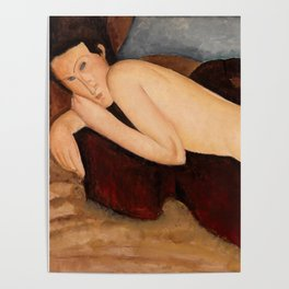 "Amedeo Modigliani ""Reclining Nude from the Back (Nu couché de dos)"" Poster"