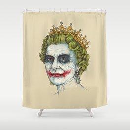 God Save the Villain! Shower Curtain