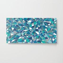 A blue geometry Metal Print