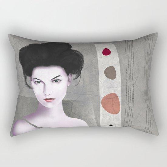 De cara a la pared Rectangular Pillow