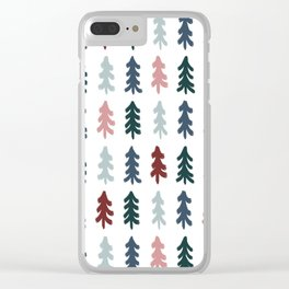 Christmas Tree Pattern Clear iPhone Case