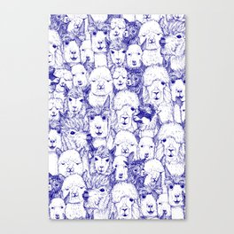 just alpacas blue white Canvas Print