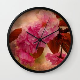 Under the Cherry Blossoms Wall Clock
