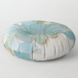 Ocean Hue Sea Glass Floor Pillow