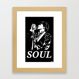 "James Brown ""The Godfather Of Soul"" Framed Art Print"
