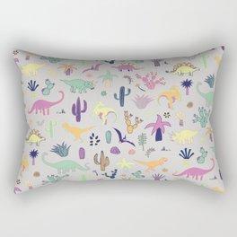 Dinosaur Desert Rectangular Pillow