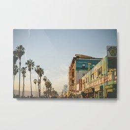 Venice Beach Boardwalk Metal Print