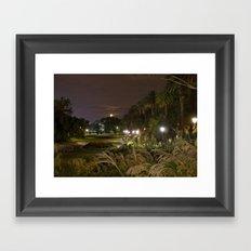Garden Lights Framed Art Print