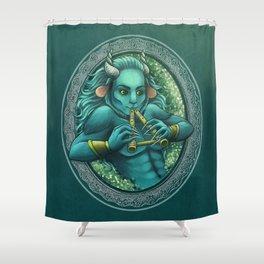 Blue Hair Shower Curtain