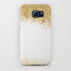 Sparkling golden glitter confetti II Galaxy S6 Slim Case