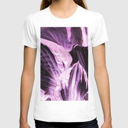 Dark Night - Purple Leaves #1 #decor #art #society6 T-shirt