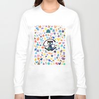 mew Long Sleeve T-shirts featuring Mew the Creator by Pocketmoon designs