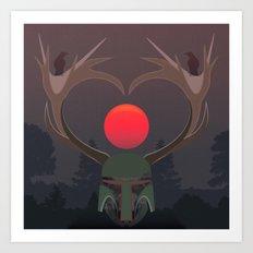 The last elk hunter Art Print