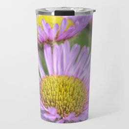 Aster pink daisy flowers in soft focus Travel Mug
