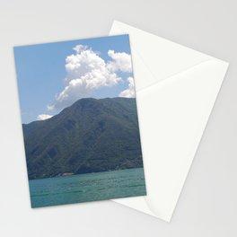 Lugano, Switzerland Lake and Alpine Mountains Panoramic photograph Stationery Cards