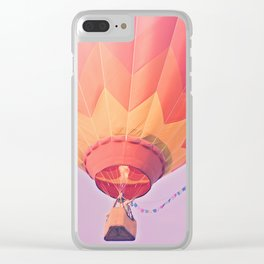 Summer Hot Air Balloon Clear iPhone Case