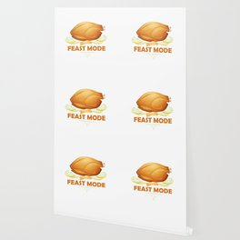 Funny Feast Mode Thanksgiving Turkey Wallpaper