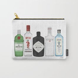 Gin Bottles Illustration Carry-All Pouch