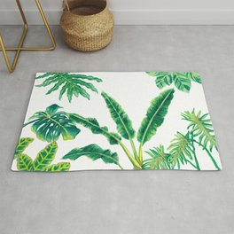 Tropical House Plants Rug