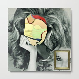 Picasso in her face Metal Print