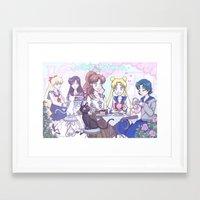 enerjax Framed Art Prints featuring Sailor Tea Time by enerjax