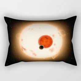 643. Where the Sun Sets Twice Artist Concept Rectangular Pillow