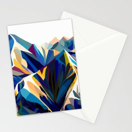 Mountains cold Stationery Cards
