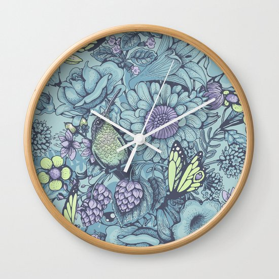 Beauty (eye of the beholder) - aqua version Wall Clock