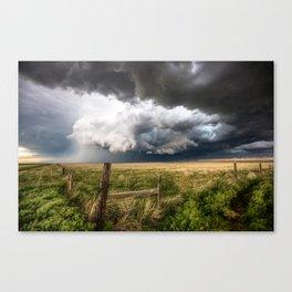 Aquamarine - Storm Over Colorado Plains Canvas Print