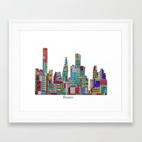 houston Framed Art Prints featuring Houston by bri.buckley
