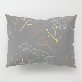 Autumn Branches With Leafs Pillow Sham