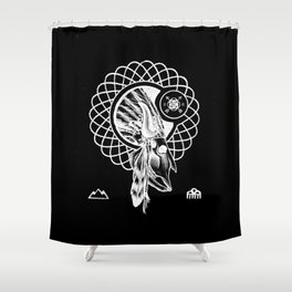 SPIRIT PATH Shower Curtain
