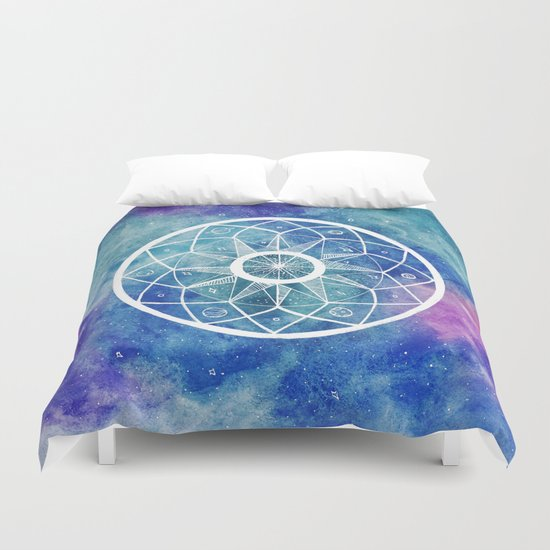 Watercolour Cosmic Mandala Duvet Cover