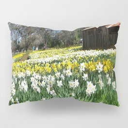 Daffodils and Barn Pillow Sham