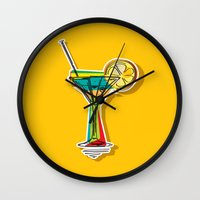 cocktail Wall Clocks featuring Cocktail by Rceeh