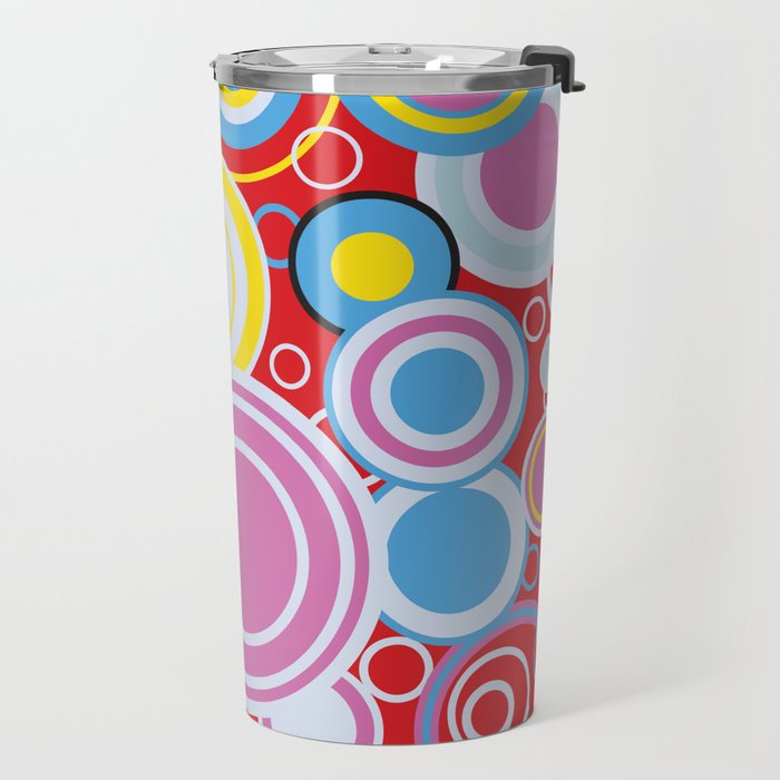 Pop Art Colour Circles Travel Mug