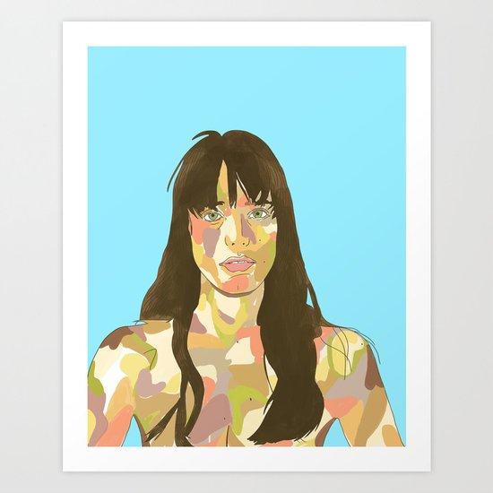 Stacy Martin as Young Joe Art Print