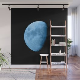 4K Dark Side of the Moon Ice Blue Wall Mural