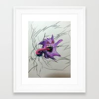 gengar Framed Art Prints featuring Gengar by EzraTheMad